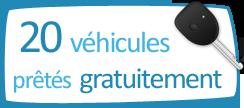 20 voitures prêtées gratuitement